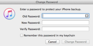 iTunes password recovery