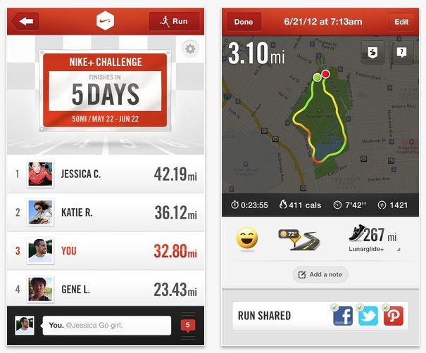 nike running app for android phone